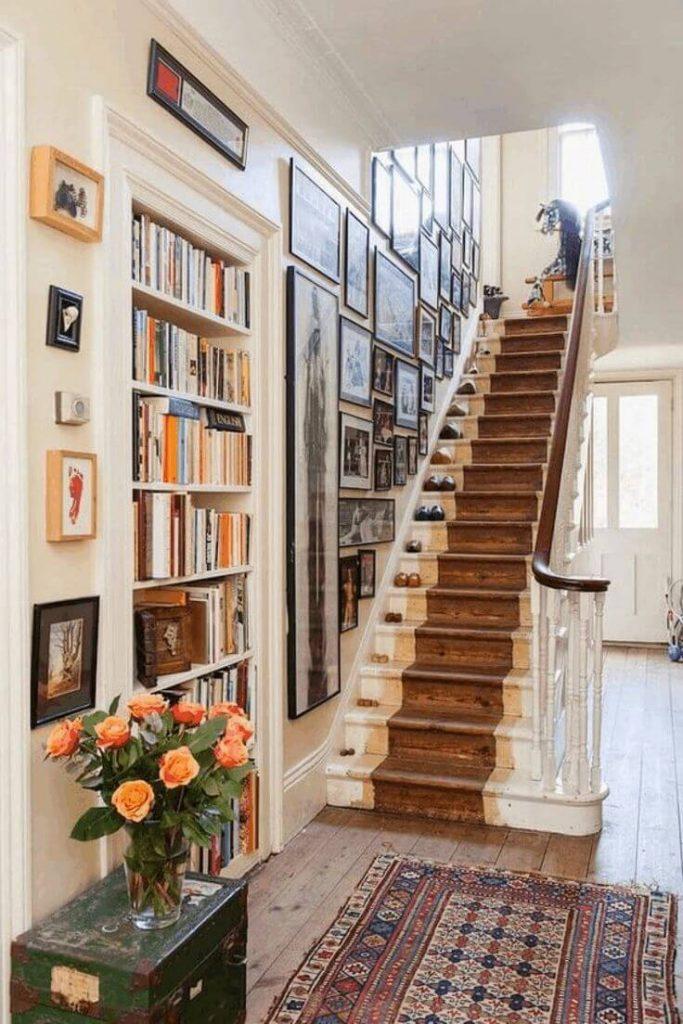 contemporary staircase wall decor