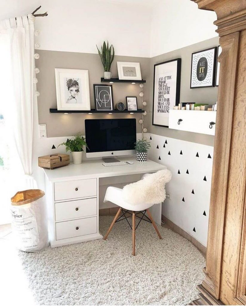corner desk organization ideas