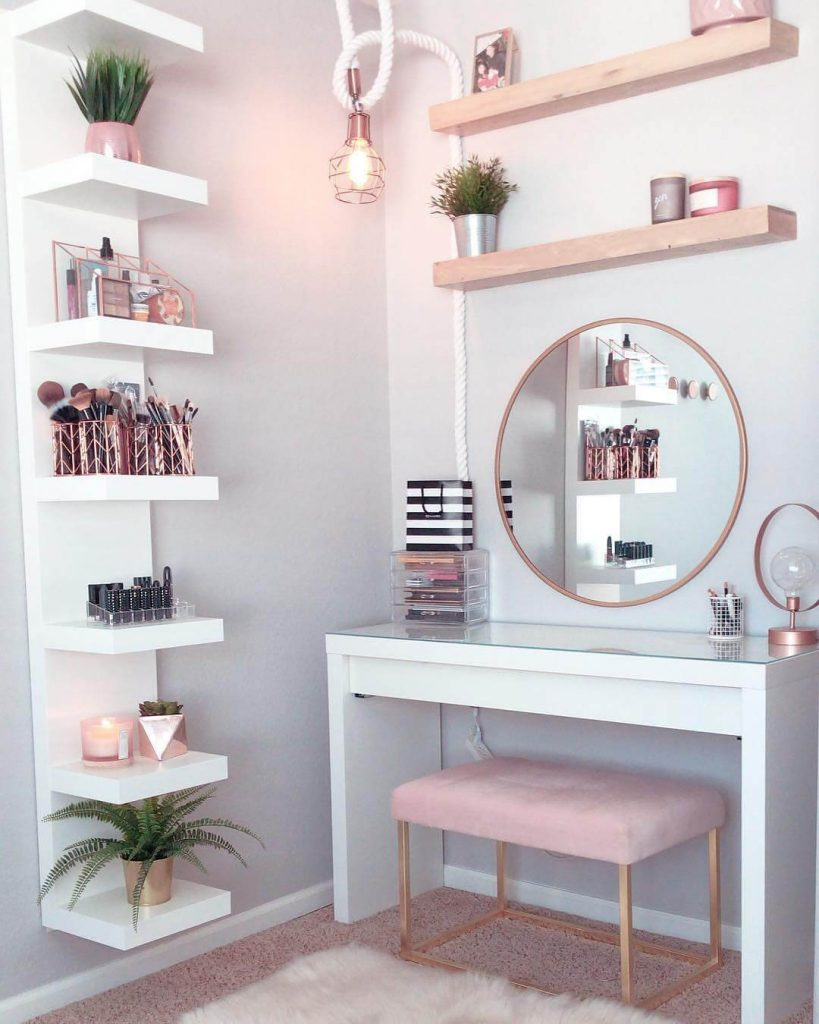 cute makeup room ideas