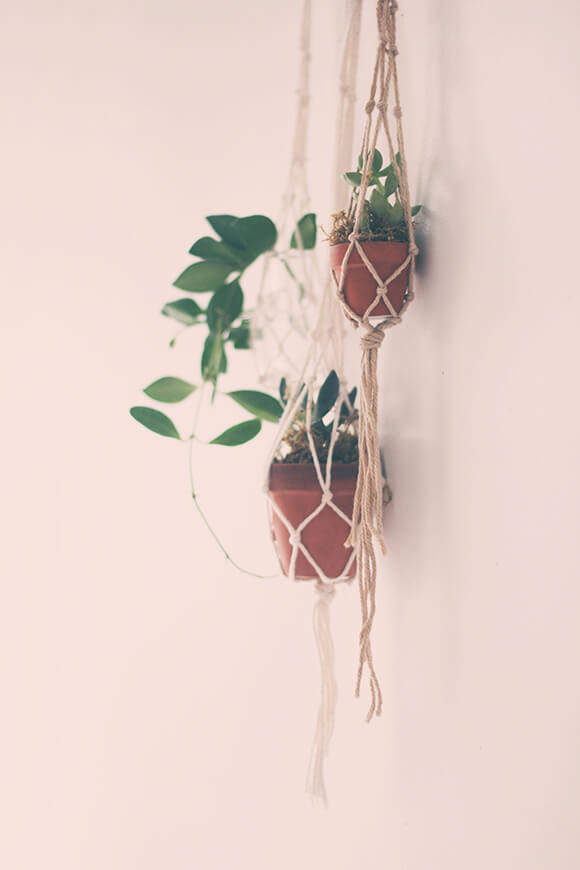 diy hanging planter rope