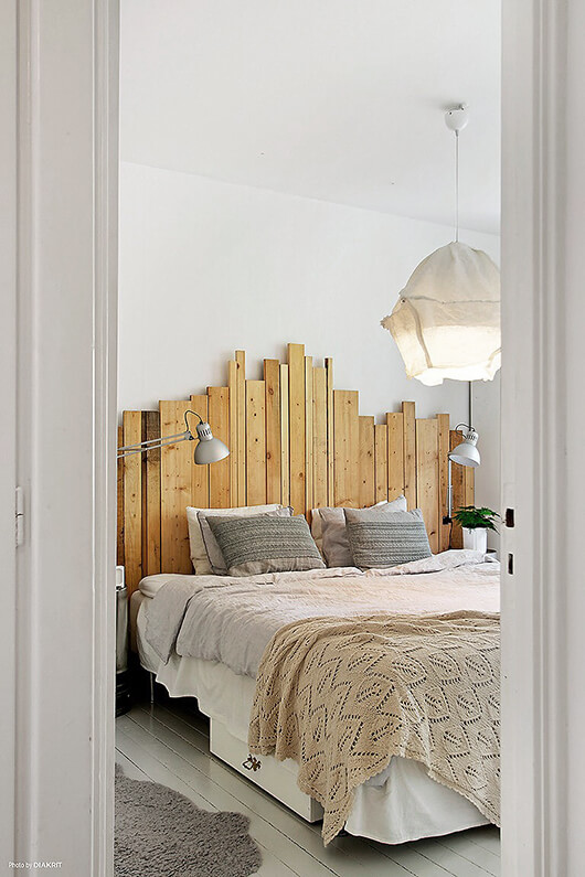 diy headboard wood planks
