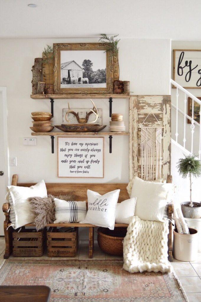 entryway decorative wall shelf