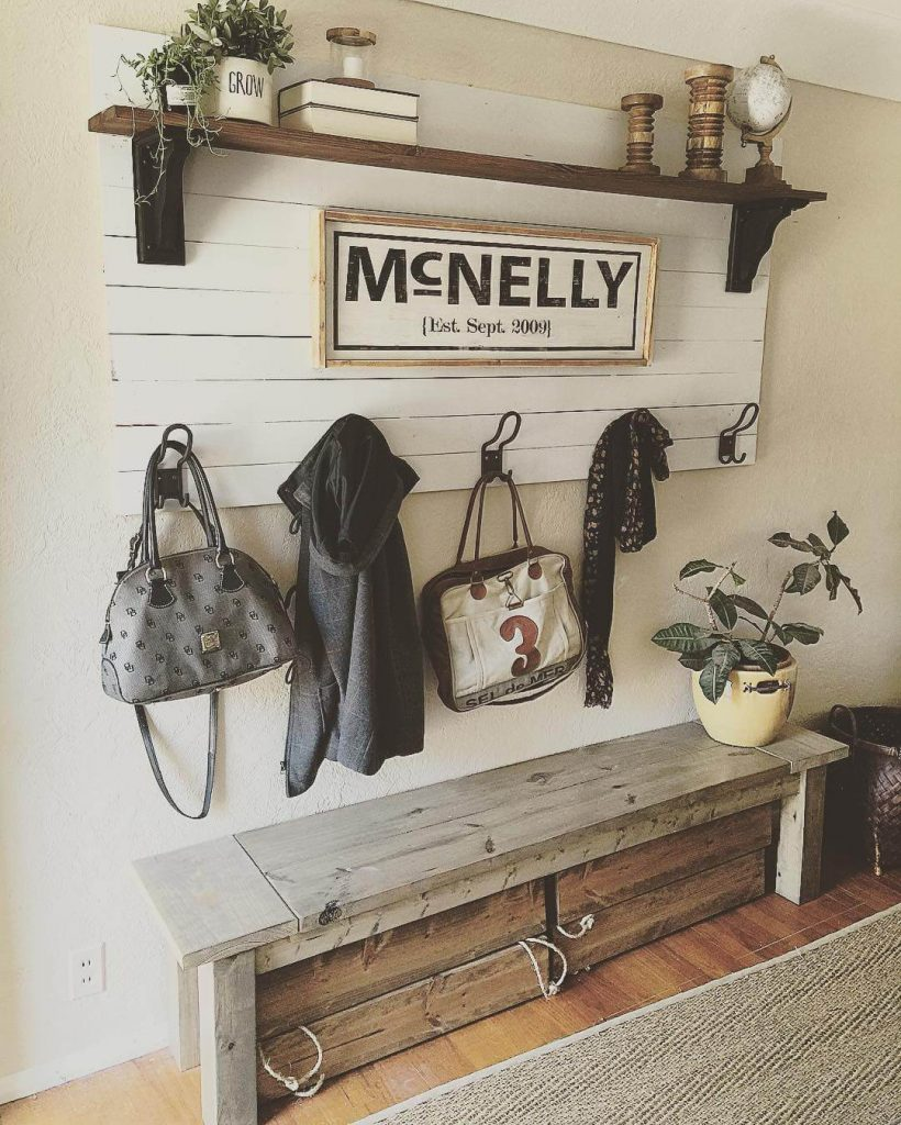 entryway ideas with bench