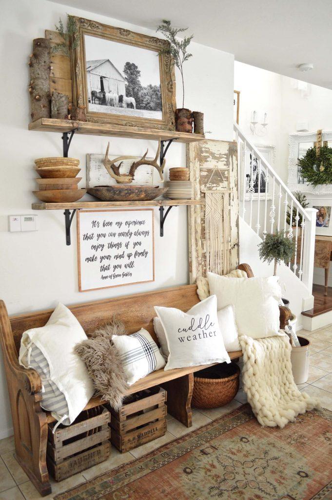 entryway table wall decor