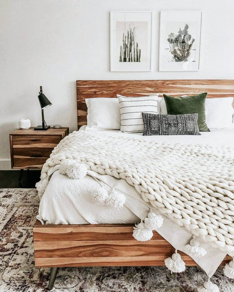 farmhouse above bed decor