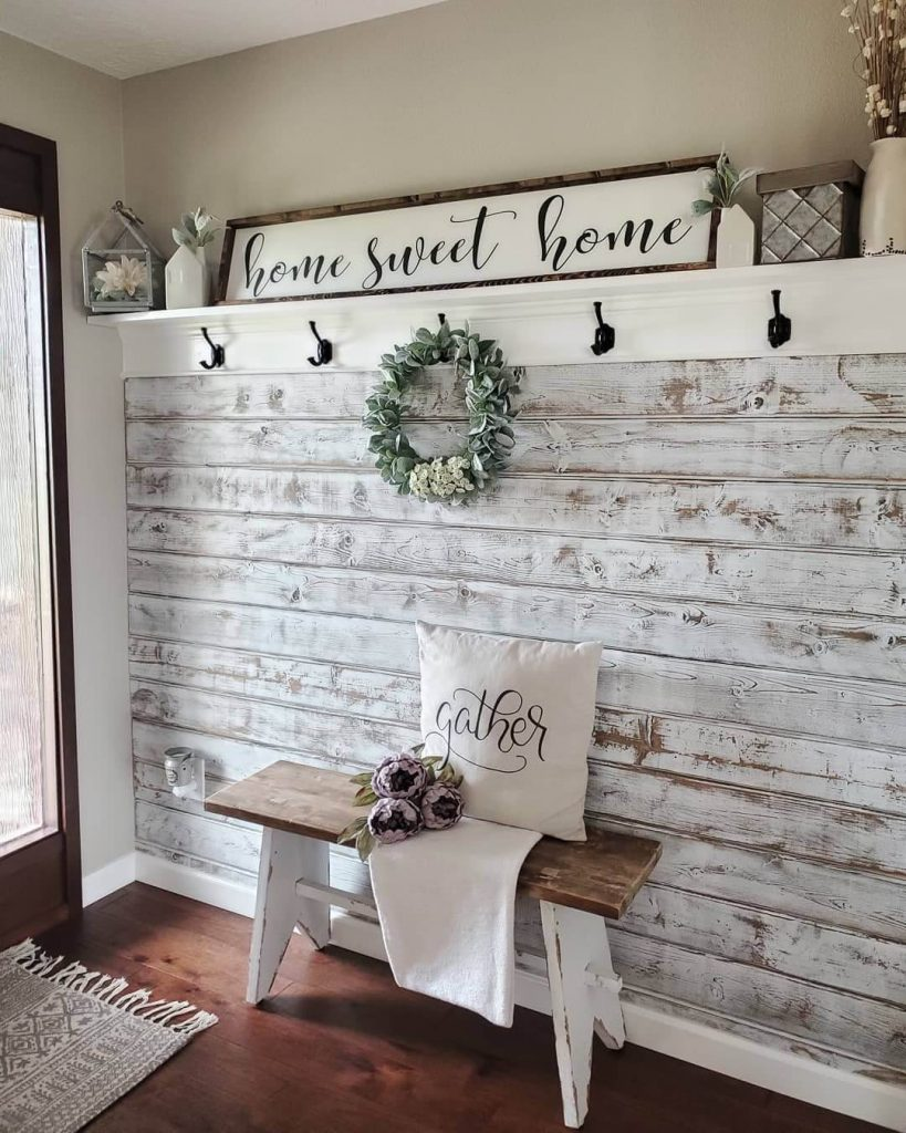 farmhouse entryway wall decor