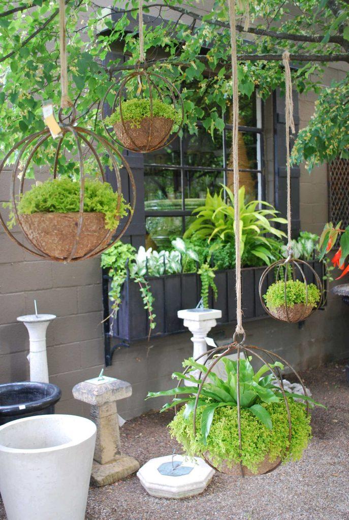 hanging planters outdoor