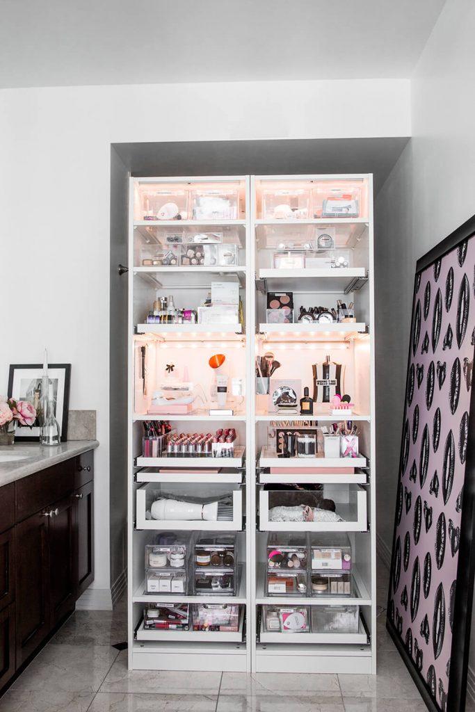 large makeup storage ideas