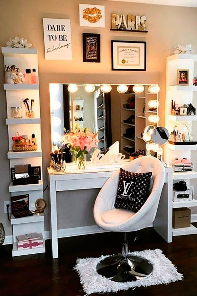 makeup room ideas pinterest
