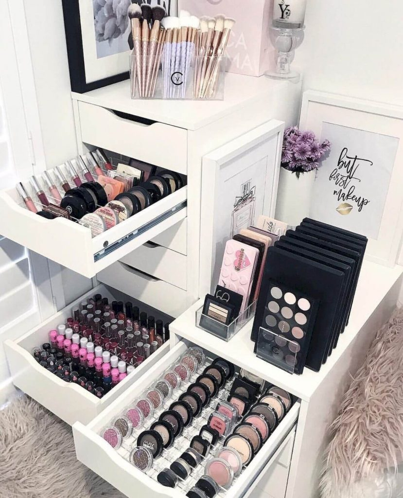 makeup storage cabinet ideas
