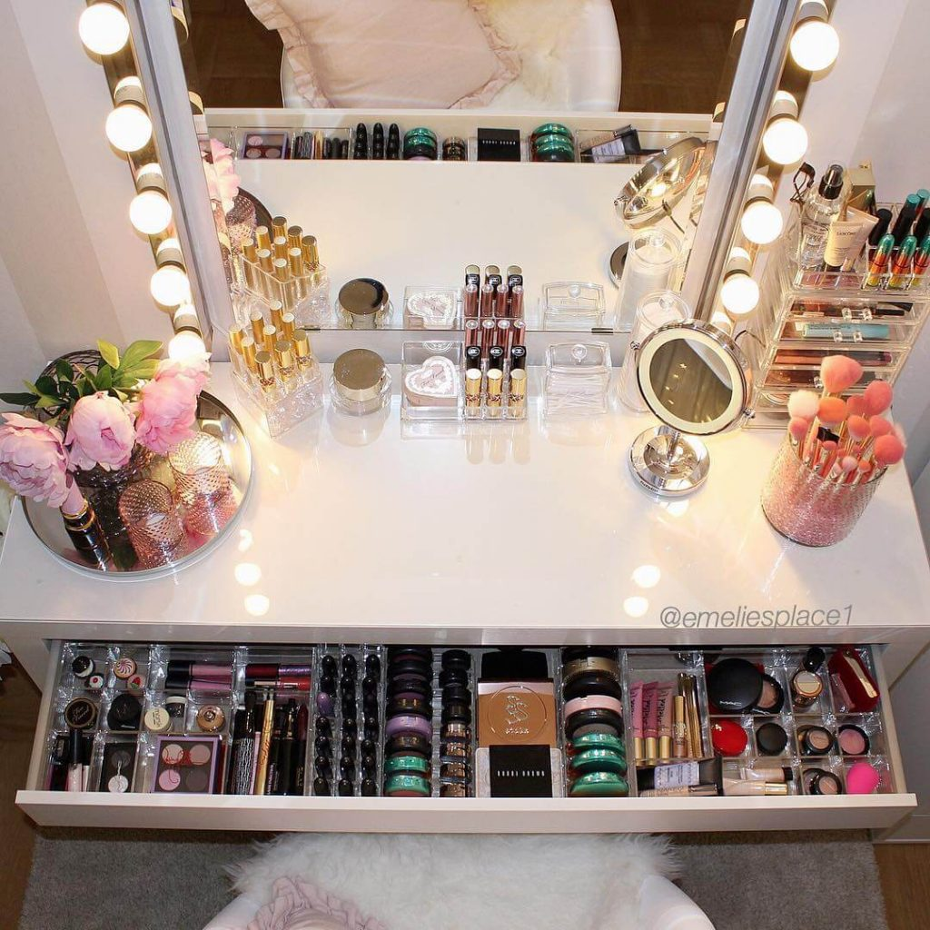 makeup storage ideas for drawers