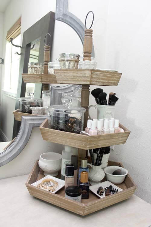 makeup storage ideas for small bathroom
