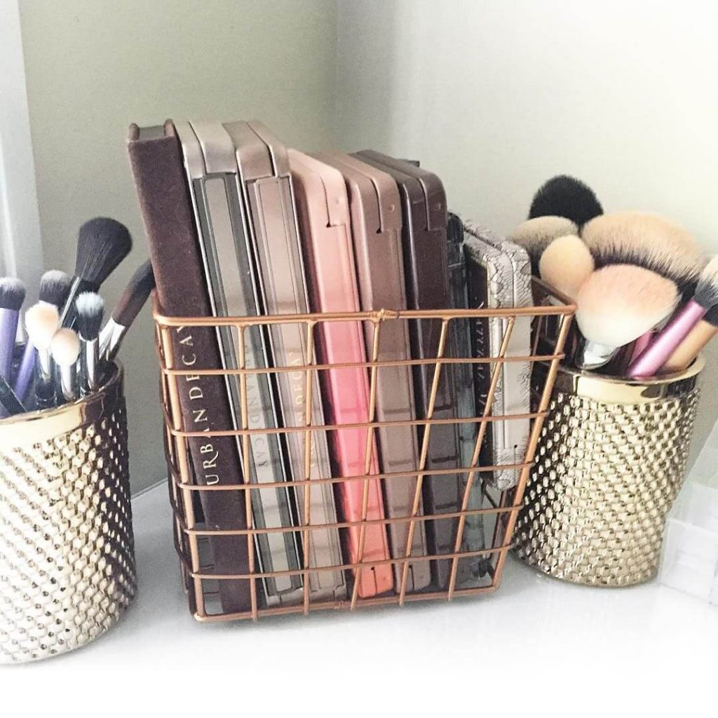 makeup storage ideas for small spaces