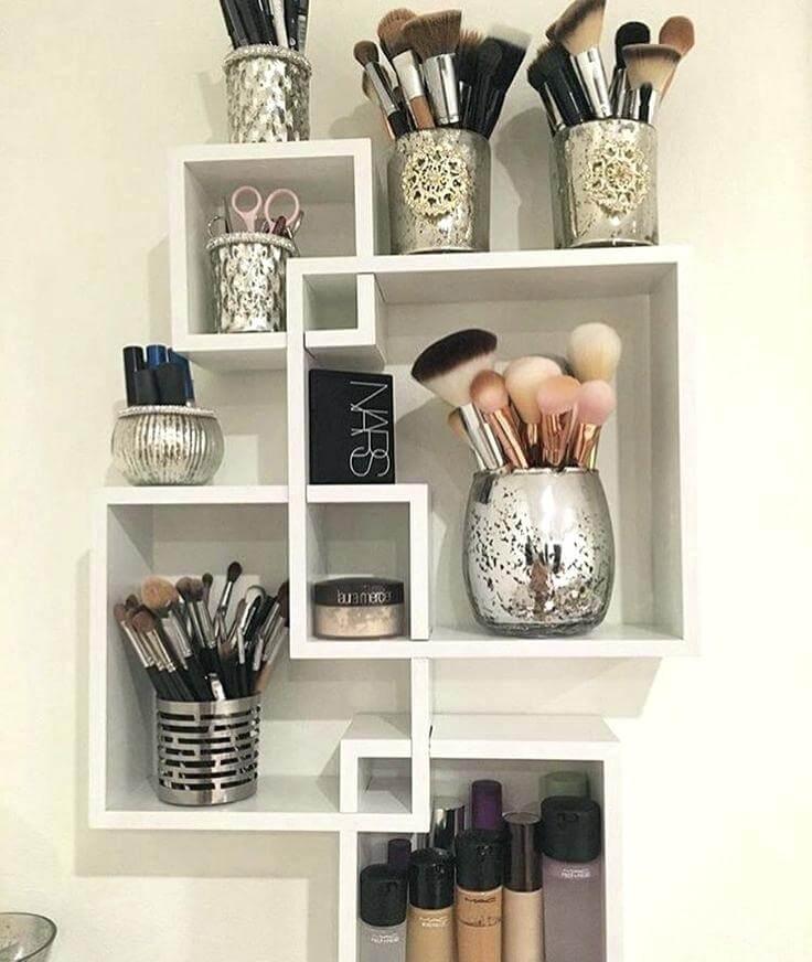 makeup storage ideas small spaces