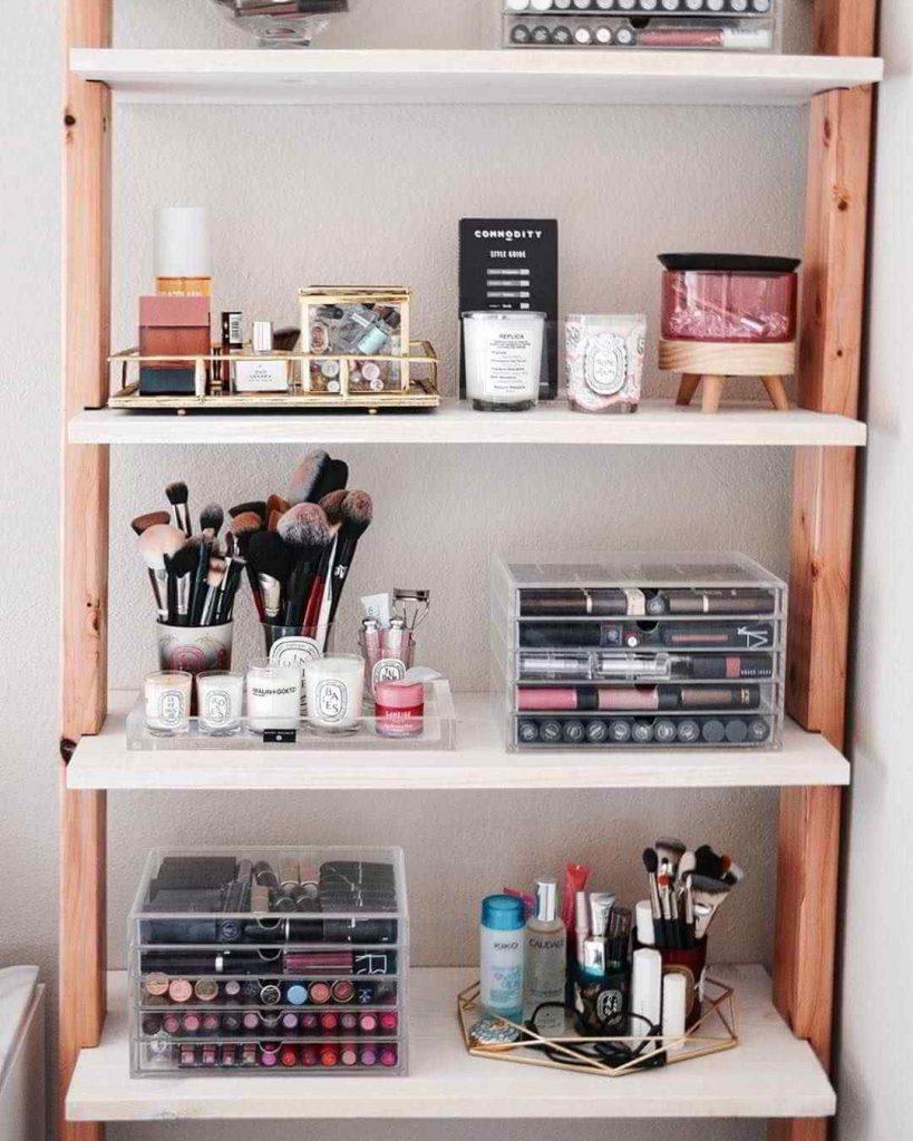 makeup storage organization ideas