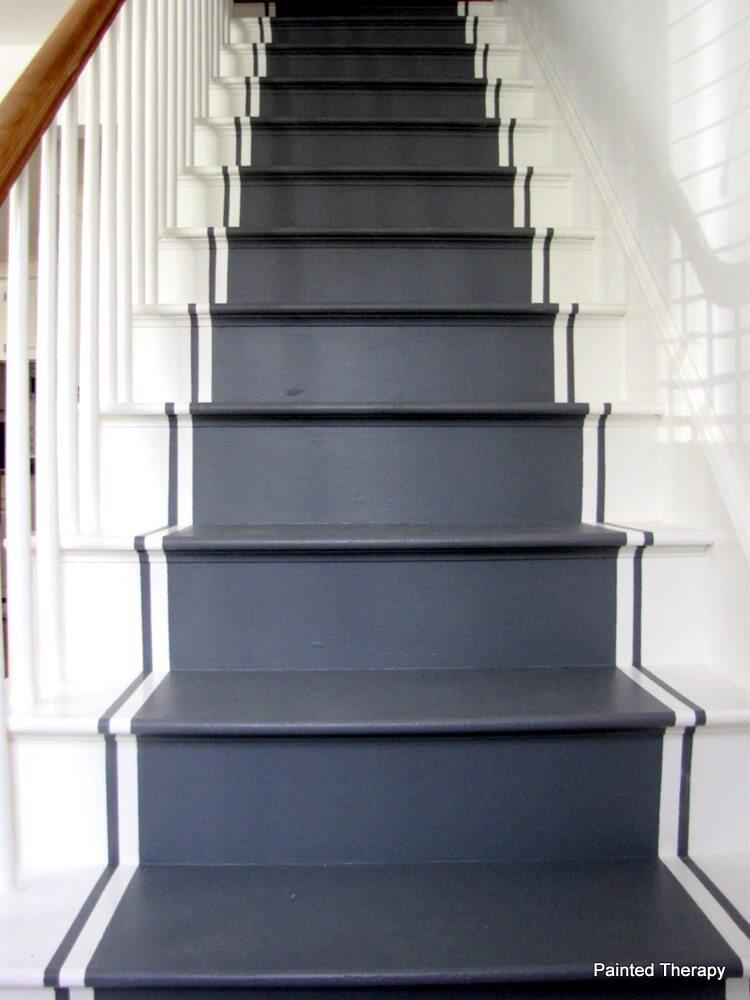 painted stair runner ideas