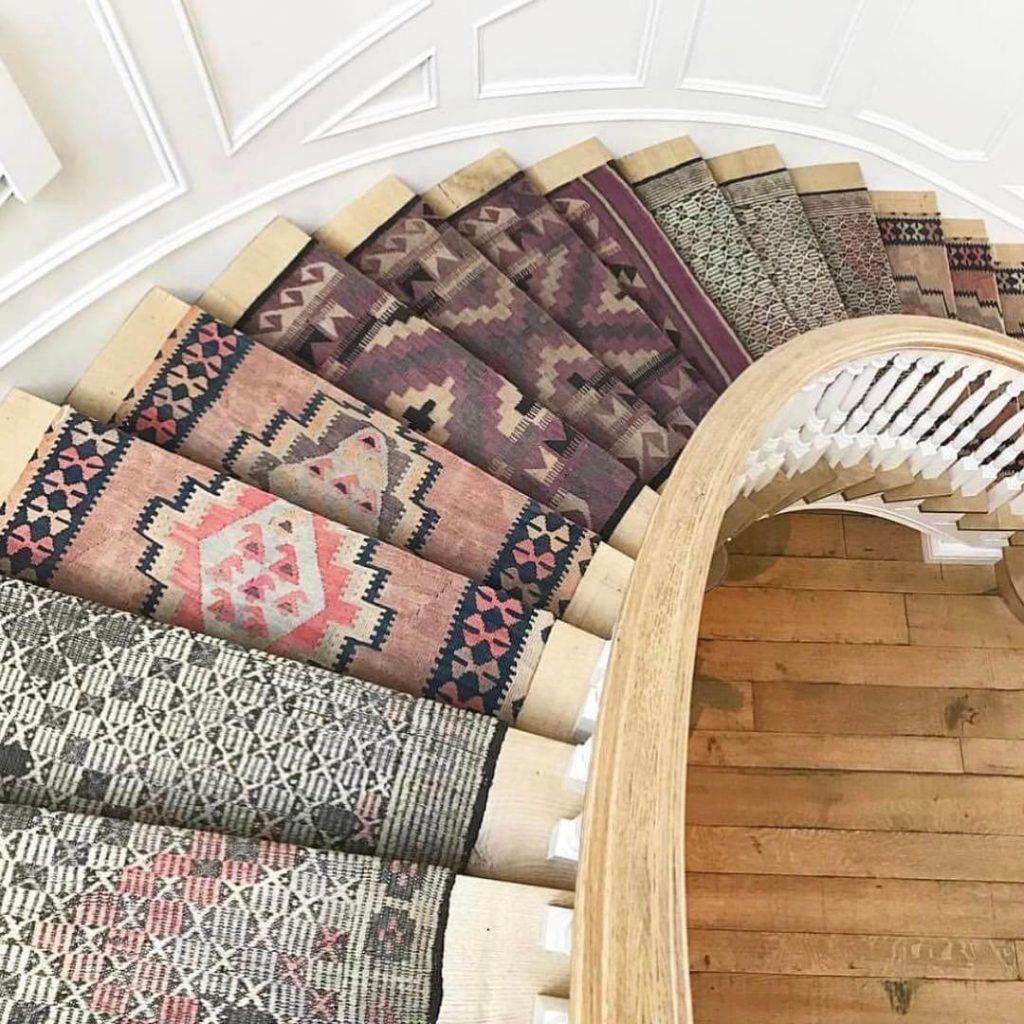 stair runner ideas diy