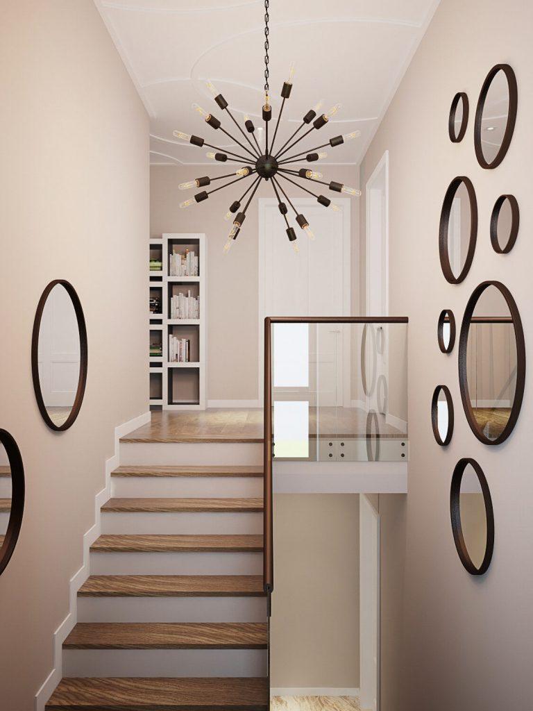 stair wall decor