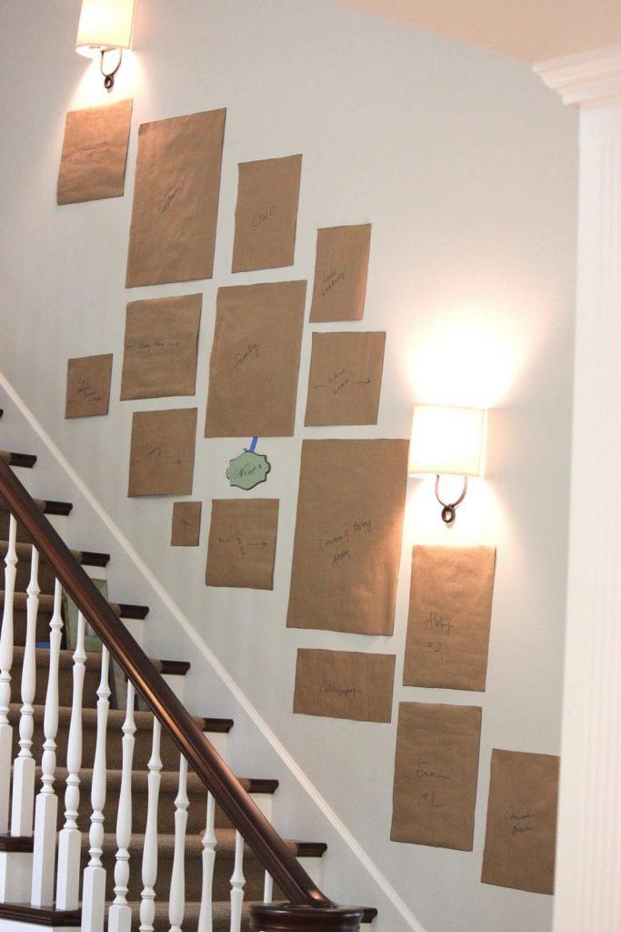 stair wall decor ideas