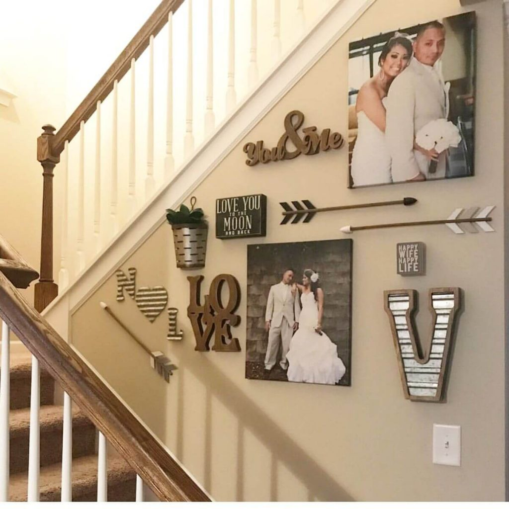 stairs wall decor ideas