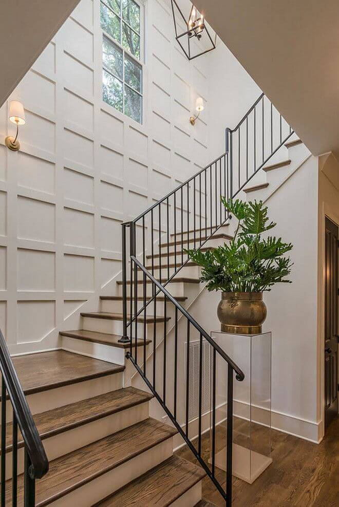 stairwell wall decor