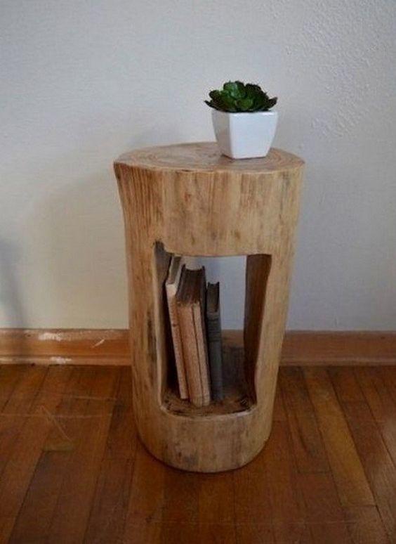 tree stump creative ideas
