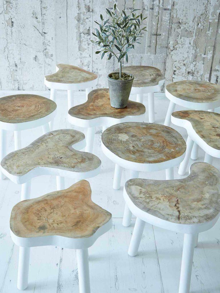 tree stump furniture ideas