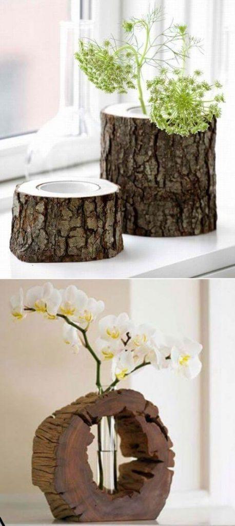 tree stump ideas garden