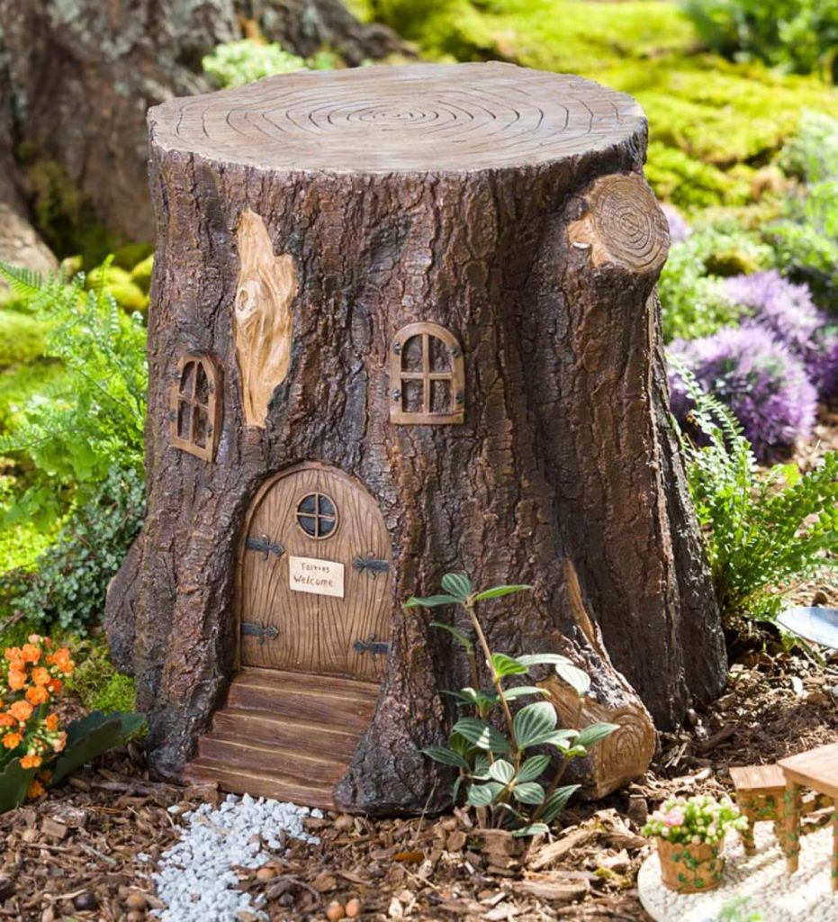 tree stump ideas landscape