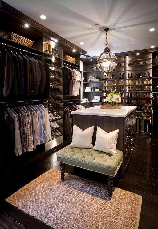 walk in closet storage ideas