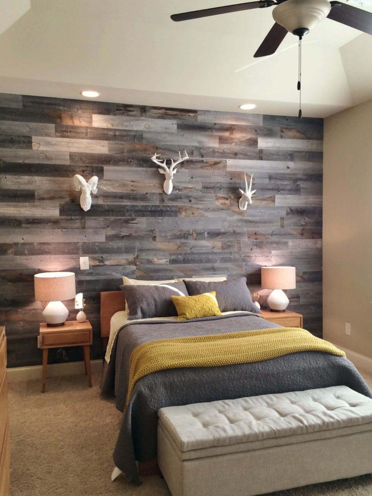 wood headboard wall