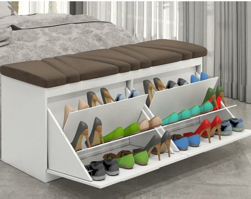 Shoes Storage Under Bed