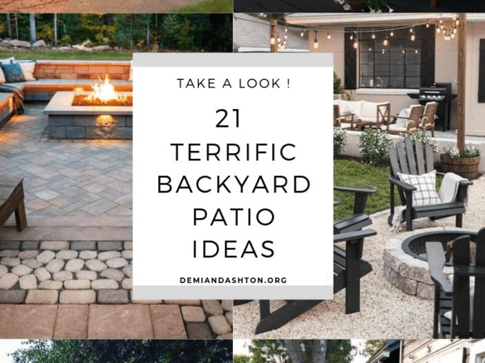 Terrific Backyard Patio Ideas