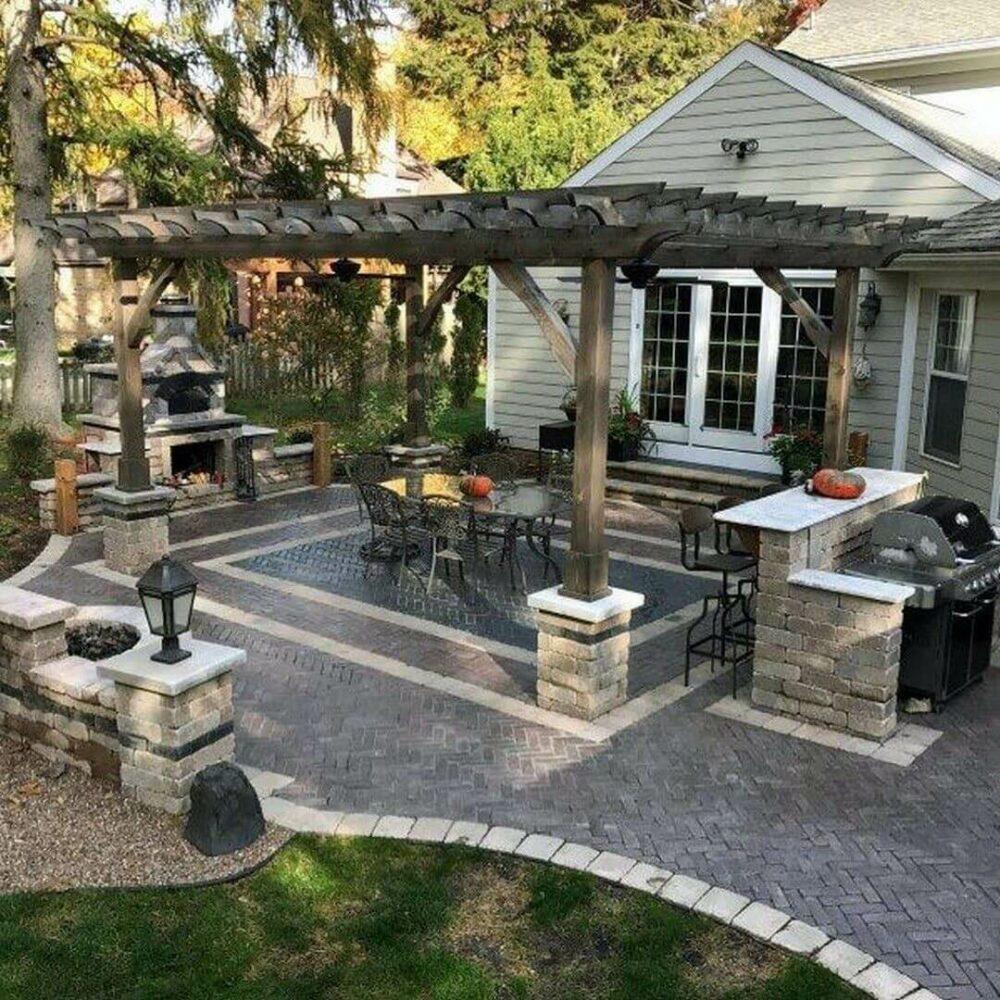 backyard patio ideas with pavers