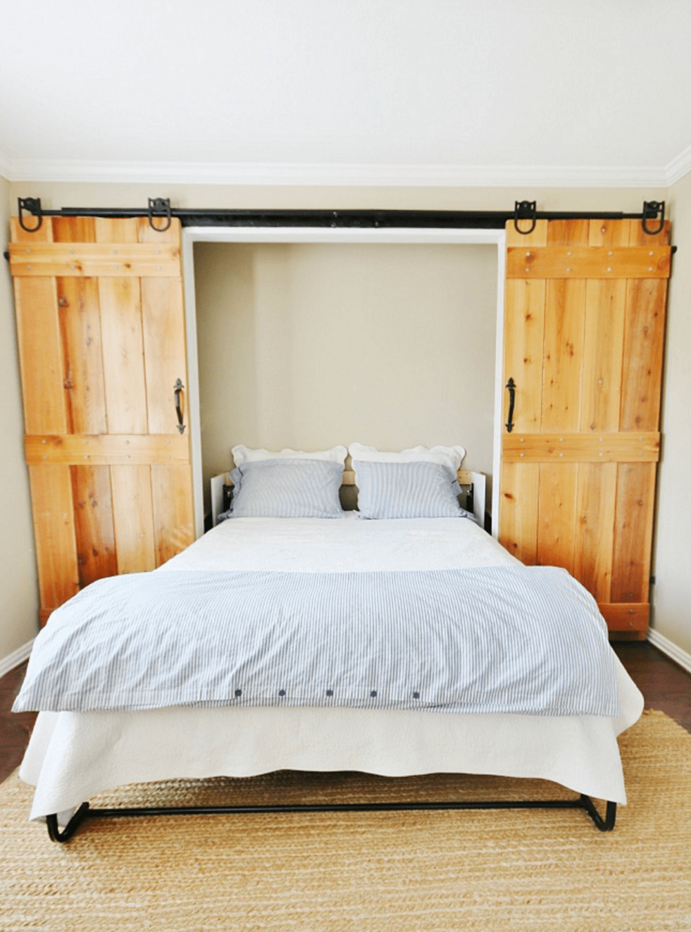 barn door murphy bed