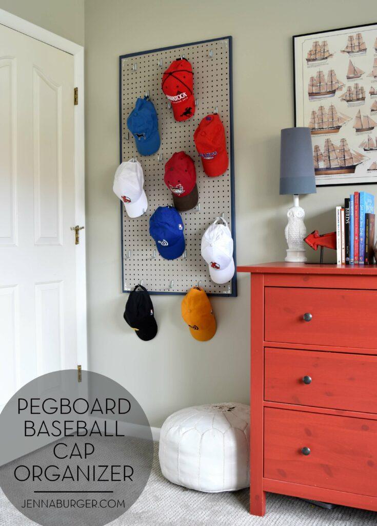 baseball cap diy hat rack