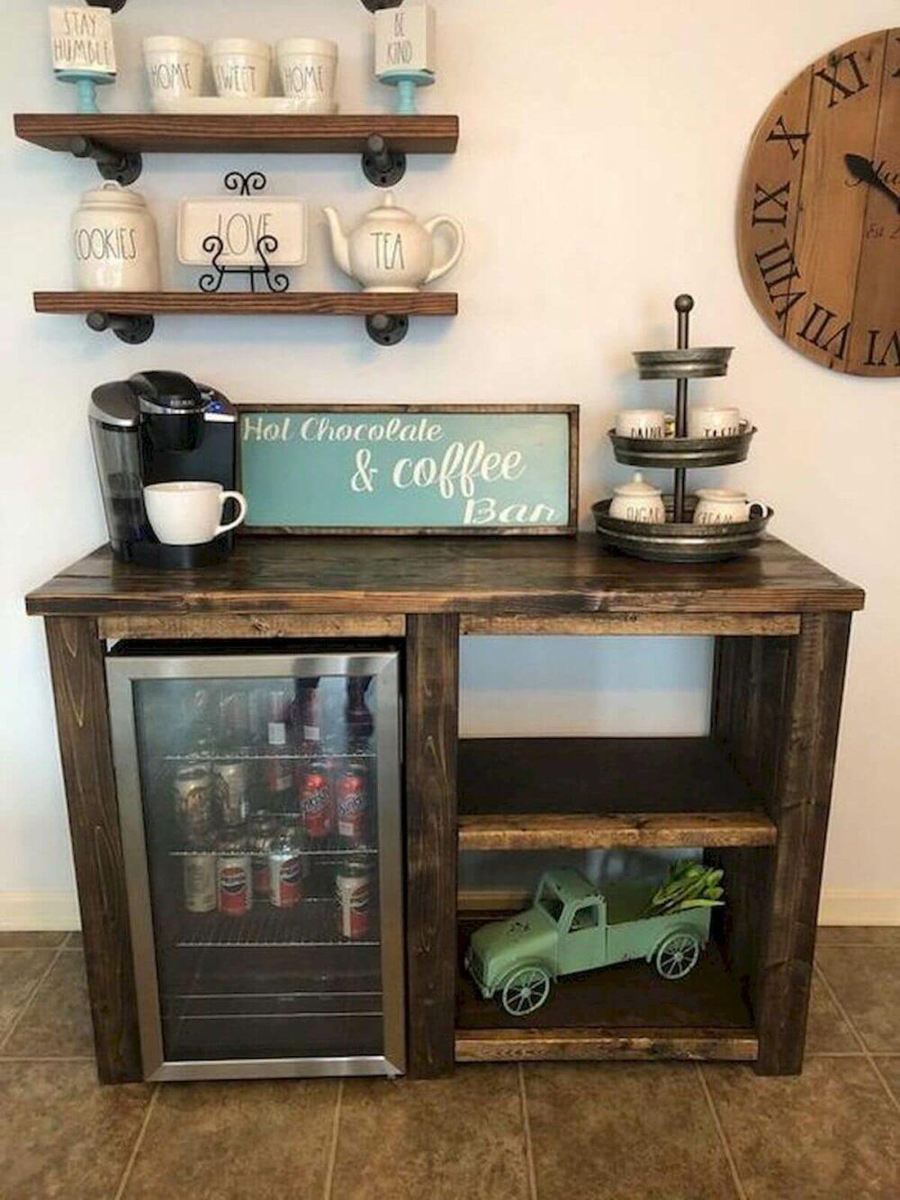 built in coffee bar ideas