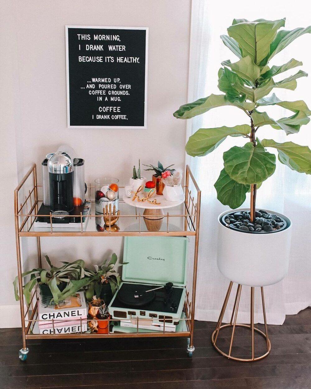coffee bar cart ideas