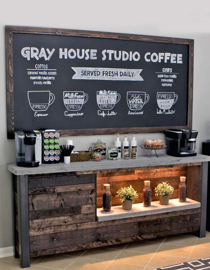 coffee bar chalkboard ideas