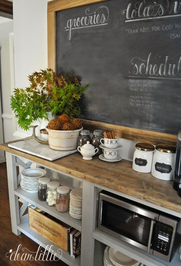 coffee bar ideas for kitchen counter