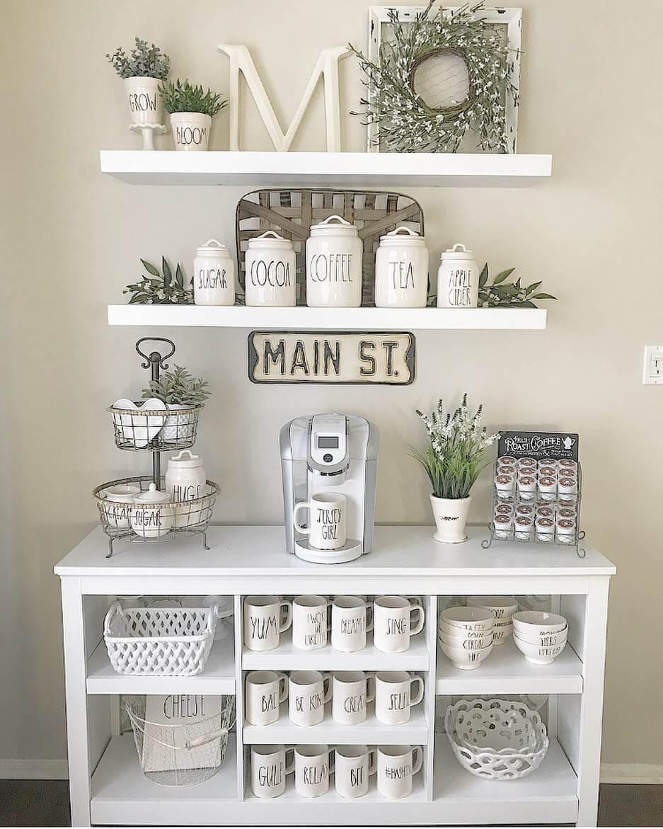 coffee bar shelf ideas
