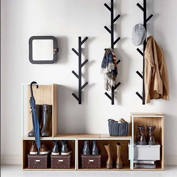 diy coat and hat rack