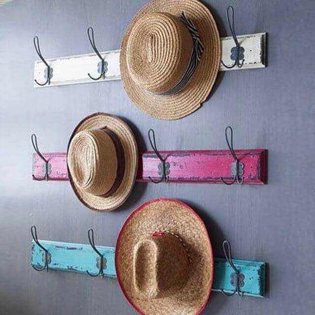 diy rustic hat rack