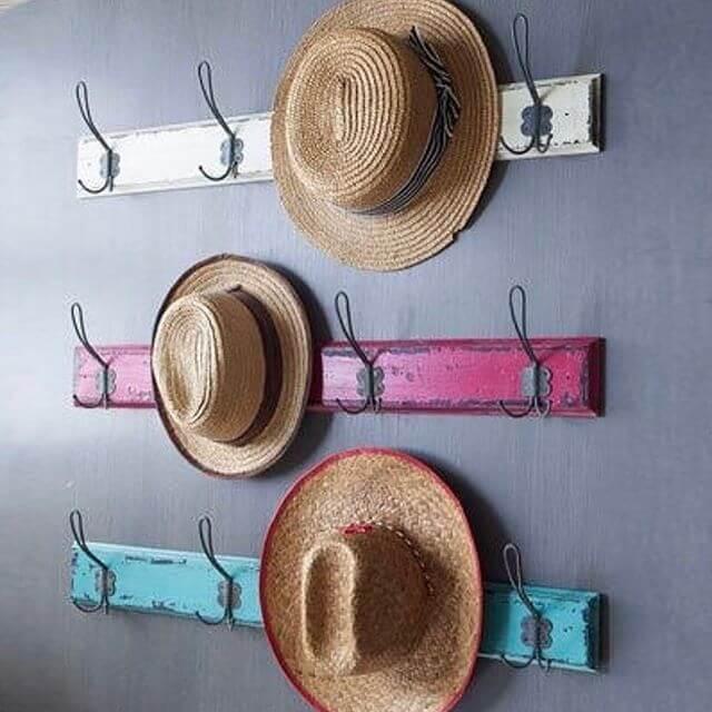 diy rustic hat rack