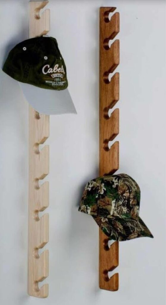 diy vertical hat rack