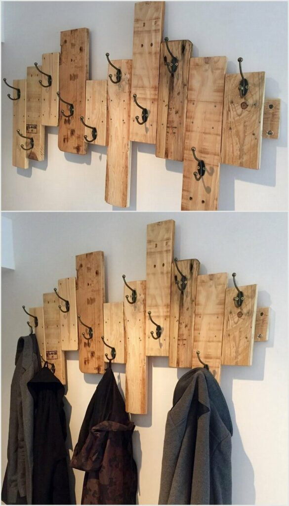 diy wall mounted hat rack