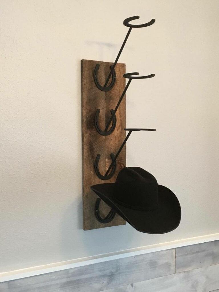 diy wood cowboy hat rack