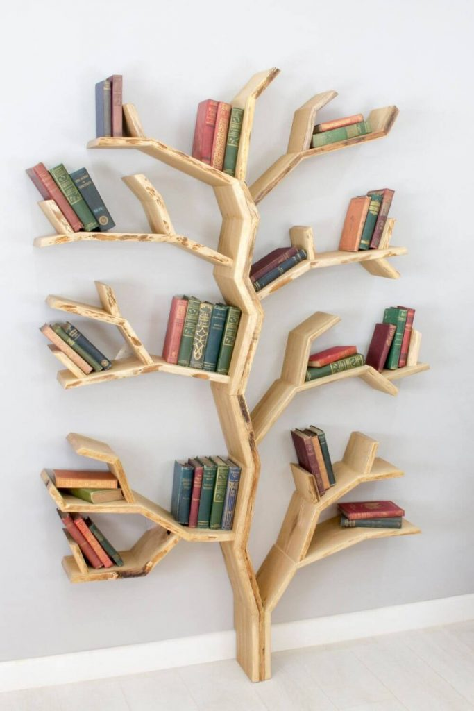 farmhouse bookshelf decor