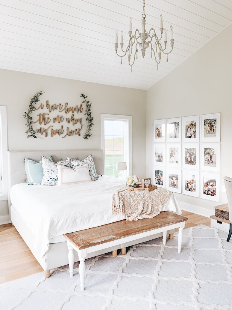farmhouse wall decor ideas for bedroom
