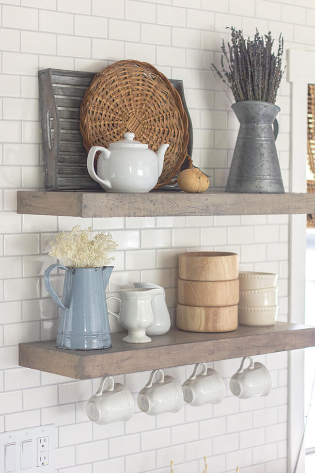 floating shelf ideas for kitchen